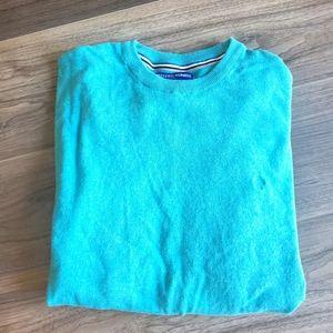 Bright turquoise blue crewneck